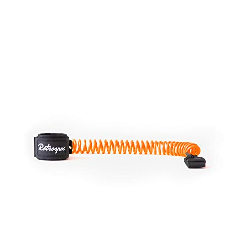 Retrospec Helix 10' Coiled Leash for Stand Up Paddleboarding, Orange
