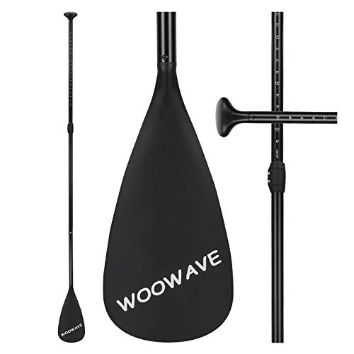 WOOWAVE SUP Paddle Adjustable 3 Pieces Aluminum Alloy Stand-Up Paddles Floating Portable Paddle Board Accessories