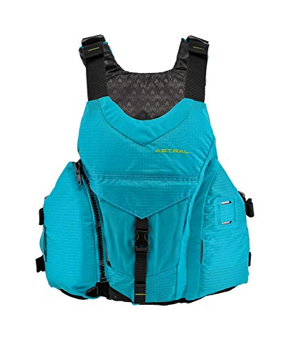 Astral Women's Layla Life Jacket PFD for Whitewater, Sea, Touring Kayaking, Stand Up Paddle Boarding, and Fishing, Glacier Blue, M/L